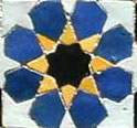 Eight point star Khatam