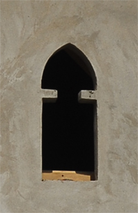 Window  in the minaret of the mosque Bohaira