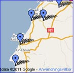Special Google maps of  sights in Essaouira Province
