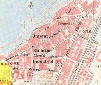 Map of Industrial quarters