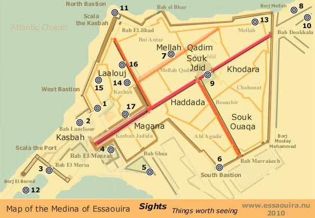 essaouira maps of the medina