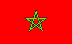 National flag of the Kingdom of Morocco
