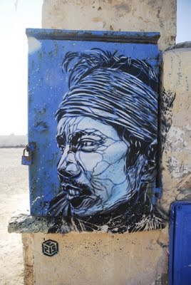 Painting  in Place Moulay Hassan