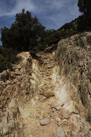 Mountain path Djebel Hadid