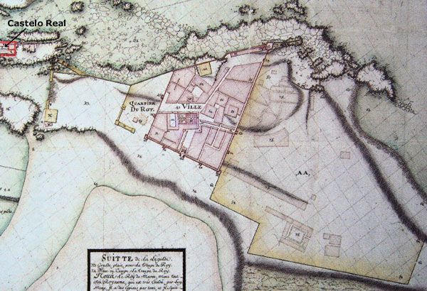 The plan of the toen Essaouira by Theodore Cornut in 1767