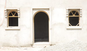 windows and door of the mosque Bohaira