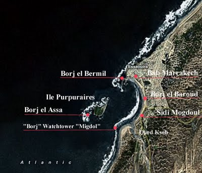"Map of Essaouira and the ""Bordj´s"""