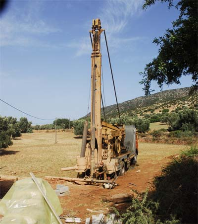 Machine for drilling for water