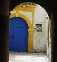 Blue door of a Zaouia