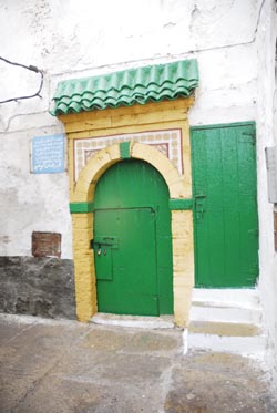 Green door of the zaouia